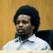 James Carter, 26, testifies in court March 29. He was convicted of first-degree arson, among other charges, and faces life in prison.