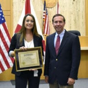 Lakeland Police Department Detective Paula Parker was honored for her work on the William McGee case. McGee attacked a runner on Lake Hollingsworth and attempted to rape her. He then fled the scene. McGee was found guilty of kidnapping and attempted sexual battery. He was sentenced to 30 years in prison.