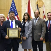 Polk County Sheriff's Office Detective Matthew Newbold was honored for his work on the Carl McCauley case. McCauley sexually assaulted and brutally murdered a 41-year-old woman. It was a 30-year-old cold case Newbold solved. He was found guilty of first-degree murder and sexual battery and was immediately sentenced to life in prison.