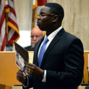 Assistant State Attorney Aaron Henry addresses jurors during closing arguments Tuesday. Childs was found guilty as charged and faces a minimum of 20 years in prison.
