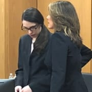 Cheyanne Jessie, left, with mitigation specialist/investigator Colleen Quinn